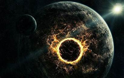 Space Explosion Planet Stars Digital Desktop Galaxy