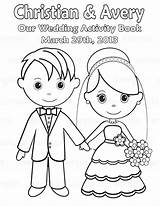 Coloring Pages Couple Bride Groom Getcolorings Printable Easy sketch template