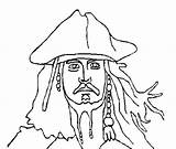 Coloring Pirates Sparrow Jack Pages Caribbean Pirate Face Colouring Super Anycoloring sketch template