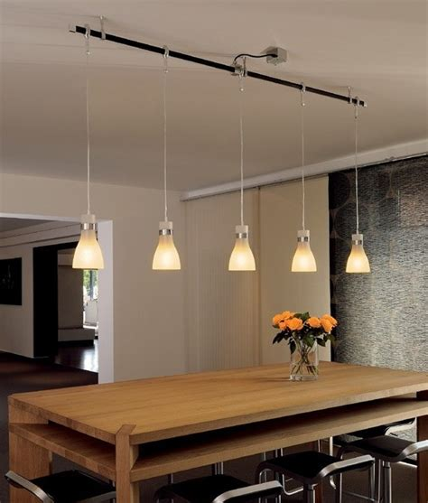 frosted glass hanging pendant designed     track
