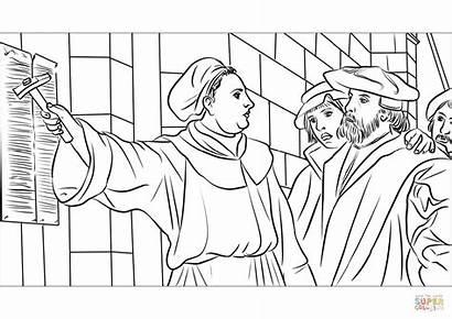 Luther Martin Ausmalbilder Ausmalen Zum Thesen Wittenberger
