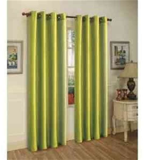 two panels blackout lime green grommet faux