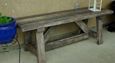 rustic wooden garden benches