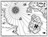Treasure Coloring Map Pirate Maps Play Getdrawings sketch template