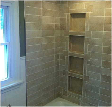to tile recessed shelves laluz nyc home design