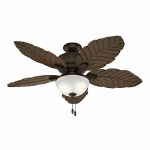 Hunter Fan 52 U0026quot  Outdoor Ceiling Fan With Led Light Kit