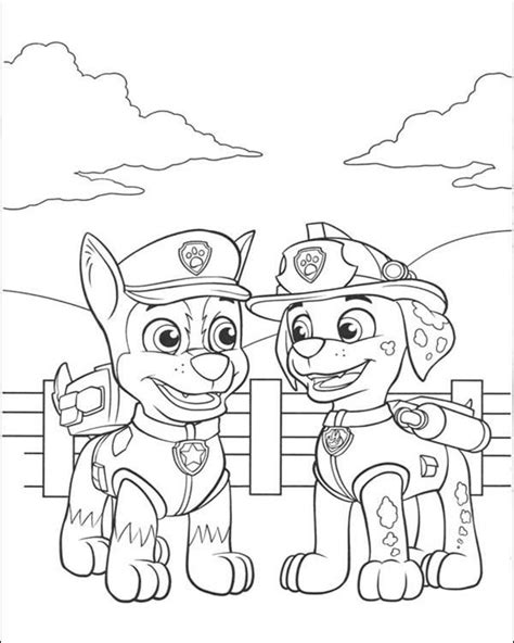 Free printable Paw Patrol Coloring Pages for kids Print