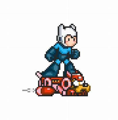 Mega Transparent Animated Megaman Adventure Dog Pixel