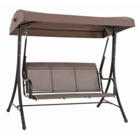 patio canopy swing home depot steel solar lit patio swing gss00005j the home depot