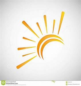 Sun Design. Abstract Icon. Summer Concept Stock Vector ...