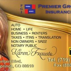 With licenses in over 40 states and 500+ agents nationwide it is safe to say, we write coast to coast. Premier Group Insurance - Auto Insurance - 1420 S Nevada Ave, Colorado Springs, CO - Phone ...