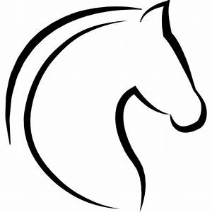 Horse head with hair outline - Free Animals icons