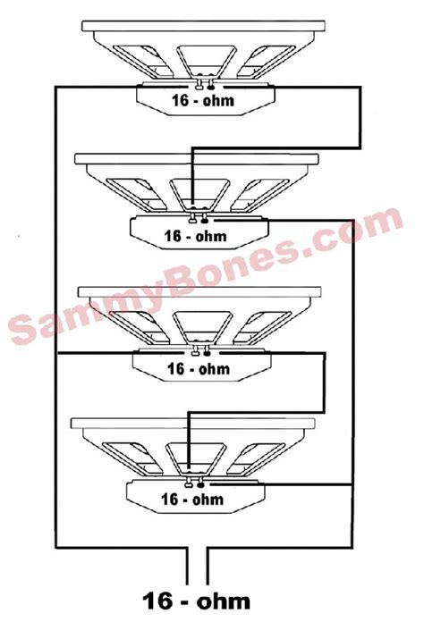 Speaker Wiring Diagram For Ohm by 4 Speaker 16 Ohm Wiring Diagram
