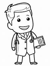 Doctor Nurse Coloring Clipart Drawing Printable Wecoloringpage Professions Coloringhome sketch template
