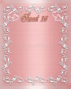 sweet 16 birthday invitation stock illustration With sweet sixteen program template