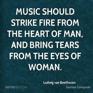 Ludwig van Beet... Manly Music Quotes
