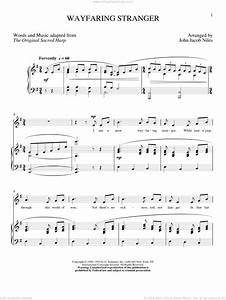 Niles Wayfaring Stranger Sheet Music For Voice And Piano