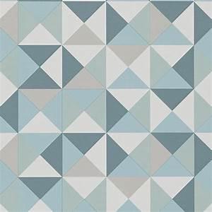 Papier Peint Motif Geometrique : papier peint acapulco vinyle sur intiss motif ~ Dailycaller-alerts.com Idées de Décoration