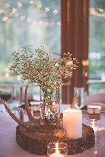 Fall Deer Antler Centerpiece Antler wedding decor