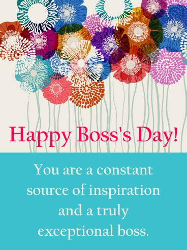 inspiration happy bosss day card birthday