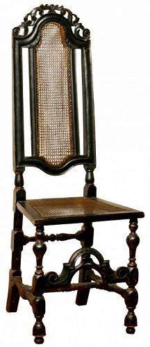 william mary black painted beech side chair ca