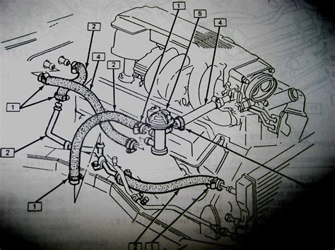 heater core coolant lines tpi diagram sketches
