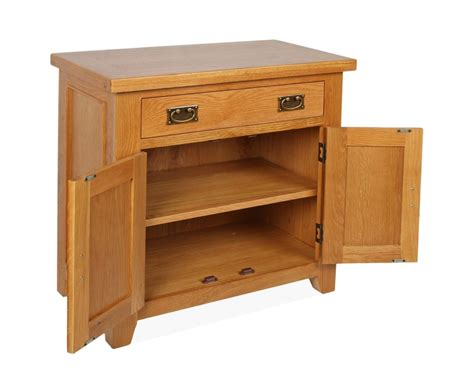Mini Sideboards by Canterbury Oak Mini Sideboard With 2 Door And 1 Drawer