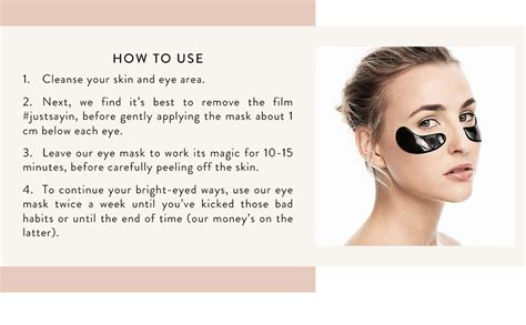 Amazon.com : BLAQ Activated Charcoal Under Eye Mask with