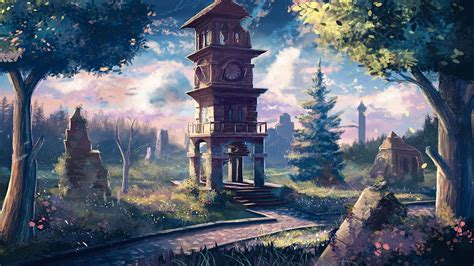 Wallpaper For Computer Anime - clock tower anime wallpapers free computer desktop