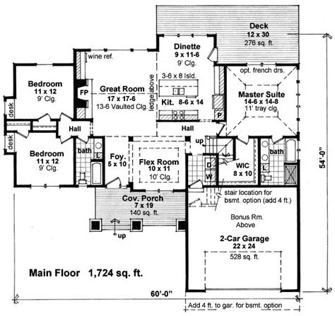 story house plan     square feet