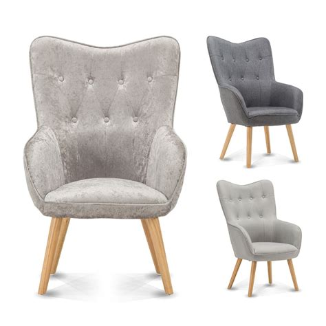 Bedroom Occasional Chairs by Wingback Occasional Accent Bedroom Chair Silver Crushed
