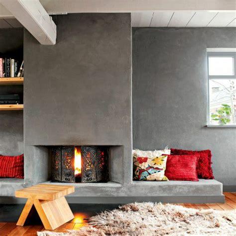 holzhocker design 20 moderne kamine die dem ambiente wärme und stil verleihen