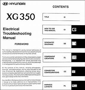 2004 Hyundai Xg 350 Original Electrical Troubleshooting Manual