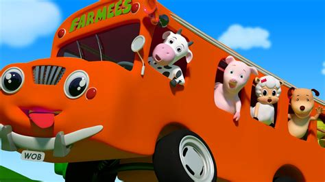 wheels   bus      nursery rhymes  kids baby songs  farmees youtube