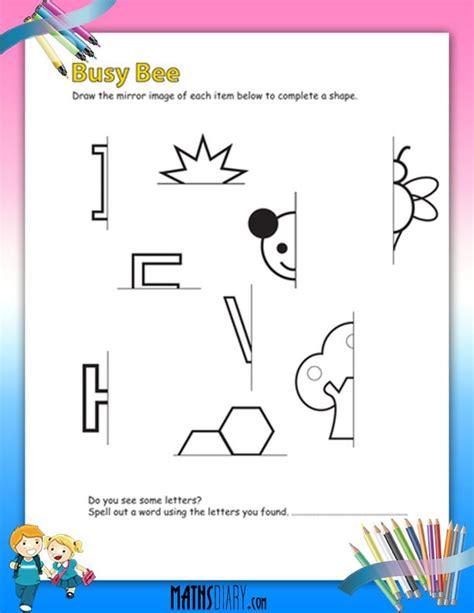 drawing mirror images worksheets math worksheets