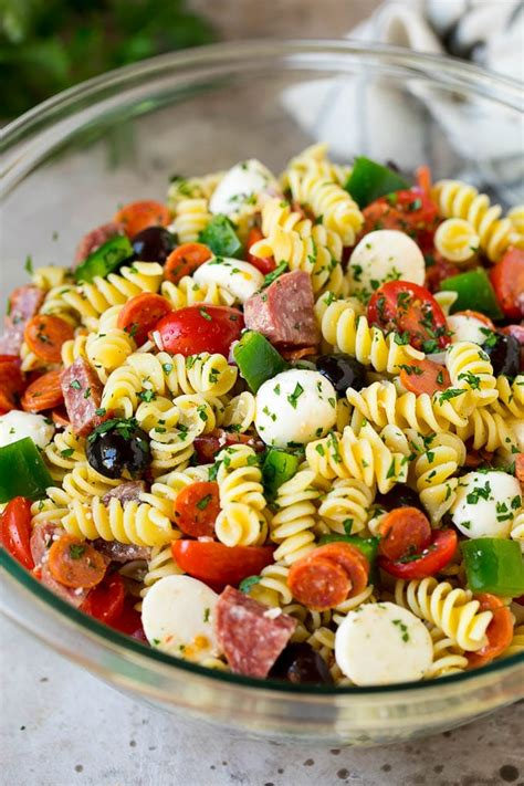 Here's 47 simple vegan pasta salad recipes. Festive Pasta Salads : Italian Pasta Salad Jo Cooks - Spread the capsicum on a lined baking tray ...