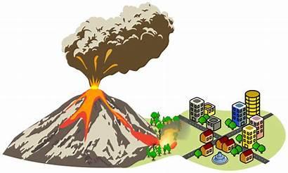 Volcano Clipart Erupting Eruption Near Geology Transparent