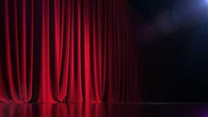 Stage Empty Curtain Dark Rich Render 3d