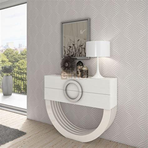 console de chambre console design moderne laque ou bois 2 tiroirs pied demi