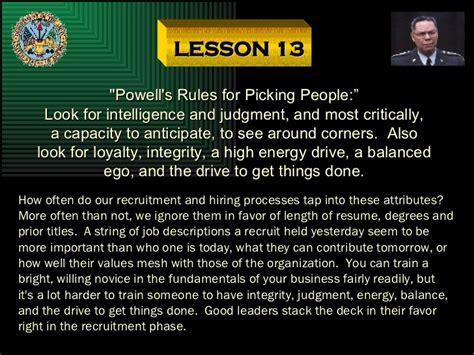 lesson  powells rules
