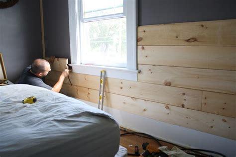 installing shiplap ship wall on plank walls magnolias and