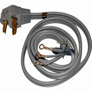 Whirlpool 3 Prong 4 Ft  220v Dryer Power Cord