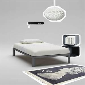 Lit 120x190 Avec Rangement : sommier 120x190 pas cher maison design ~ Teatrodelosmanantiales.com Idées de Décoration