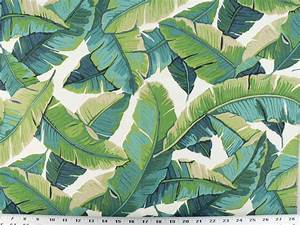 Drapery Upholstery Fabric Indoor/Outdoor Tropical Leaves