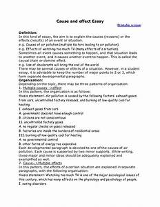 Cause And Effect Essay Introduction cause and effect essay