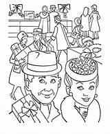 Coloring Grandparents Shopping Einkaufen Sheets Ausmalbilder Colorir Honkingdonkey Partir Guardado sketch template