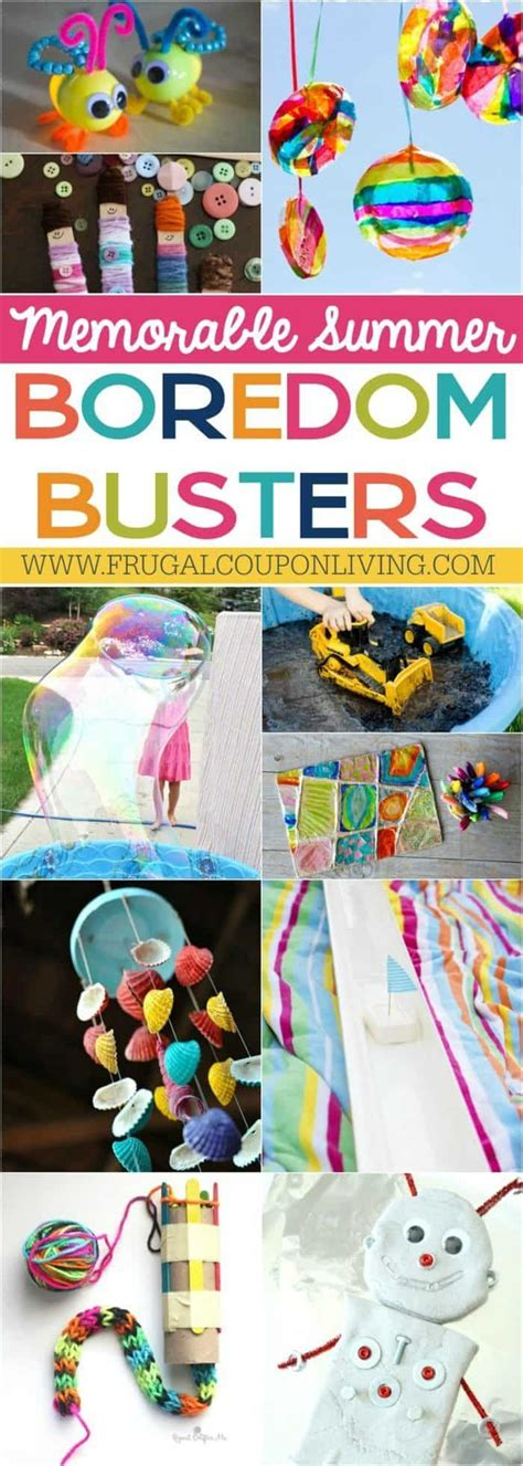 Summer Boredom Busters Boredom busters for kids Summer