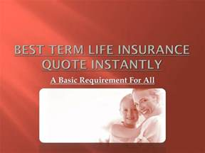 Term Insurance Estimate by Ppt Best Term Insurance Quote Instantly Powerpoint