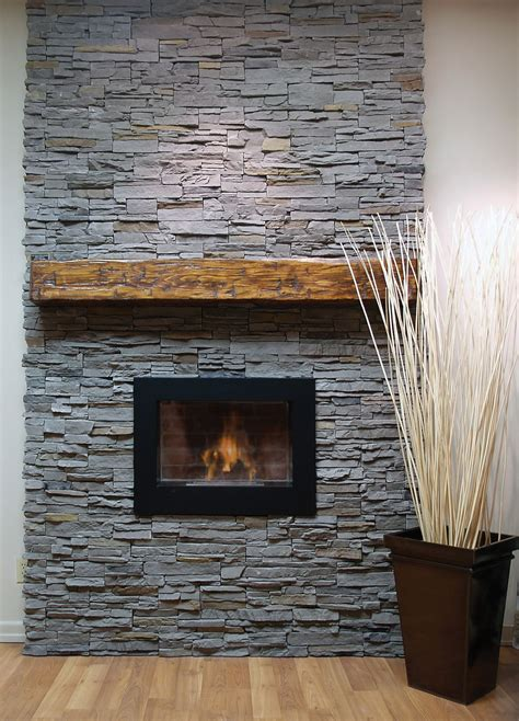 Slate Veneer Fireplace - faux panel fit home decor in 2019
