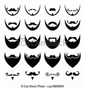 EPS Vectors Of Beard With Moustache Or Mustache